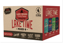 LAKE OF THE WOODS BREWING - LAKE TIME MIXED 8 8 x 473 ml