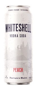SHRUGGING DOCTOR WHITESHELL VODKA PEACH SODA 473 ml