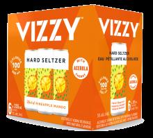 VIZZY - PINEAPPLE MANGO SPARKLING HARD SELTZER 6 x 355 ml