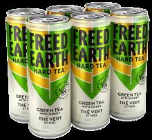 FREED EARTH HARD GREEN TEA WITH HONEY 6 x 355 ml