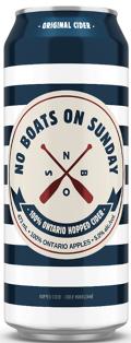 No Boats On Sunday Apple Cider 473 ml