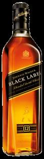 JOHNNIE WALKER BLACK LABEL 12 YO BLENDED SCOTCH WHISKY 750 ml