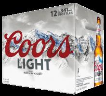 Coors Light 12 x 341 ml