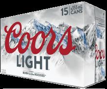 Coors Light 15 x 355 ml