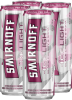 Smirnoff Ice Light Black Cherry & Soda 4 x 355 ml