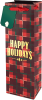 Plaid Happy Holidays Gift Bag
