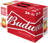 Budweiser with Red Light Goal-synced Glass Incase  24 x 355 ml