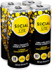 Social Lite - Lemon Cucumber Mint 4 x 355 ml