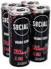 SOCIAL LITE - VODKA SODA FIELD STRAWBERRY 4 x 355 ml