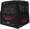 BUDWEISER SHOT 4 x 236 ml