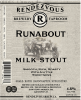 RENDEZVOUS BREWING - RUNABOUT MILK STOUT 473 ml